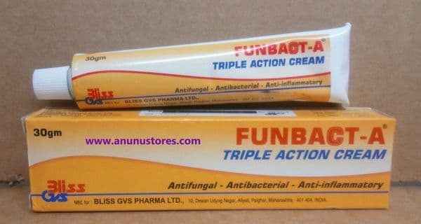 Funbact A Triple Action Cream  - 30g